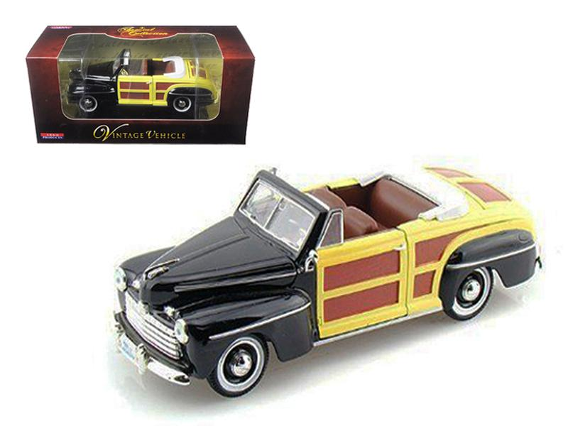 1946 Ford Woody Sportsman Black 1/32 Diecast Car Model by Arko Products
