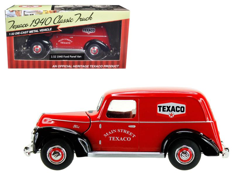 "1940 Ford Panel Van \Texaco"" Red 1/32 Diecast Model Car by Beyond Infinity"""