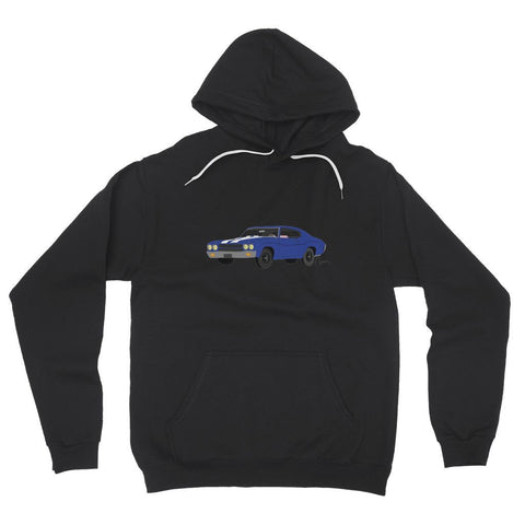 '70 Chevelle Blue No Slogan Fleece Pullover Hoodie