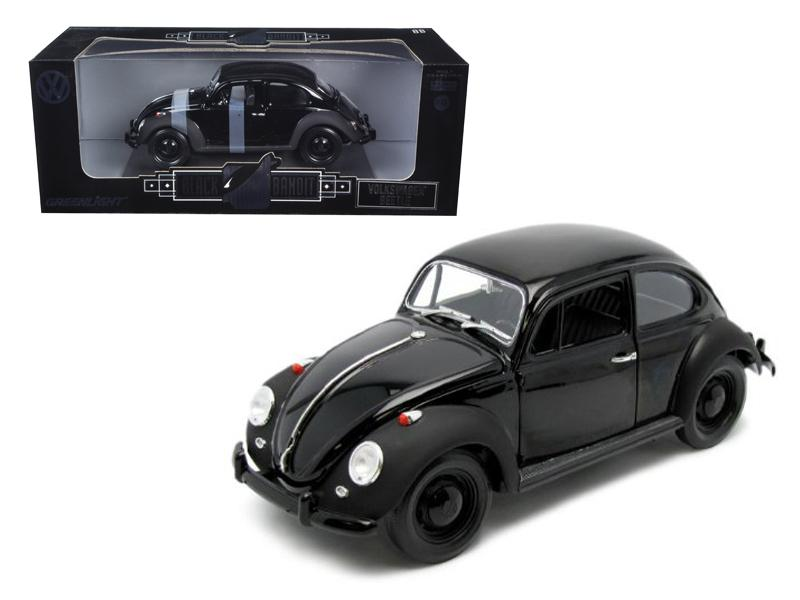 "1967 VW Volkswagen Beetle \Black Bandit"" 1/18 Diecast Model Car by Greenlight"""