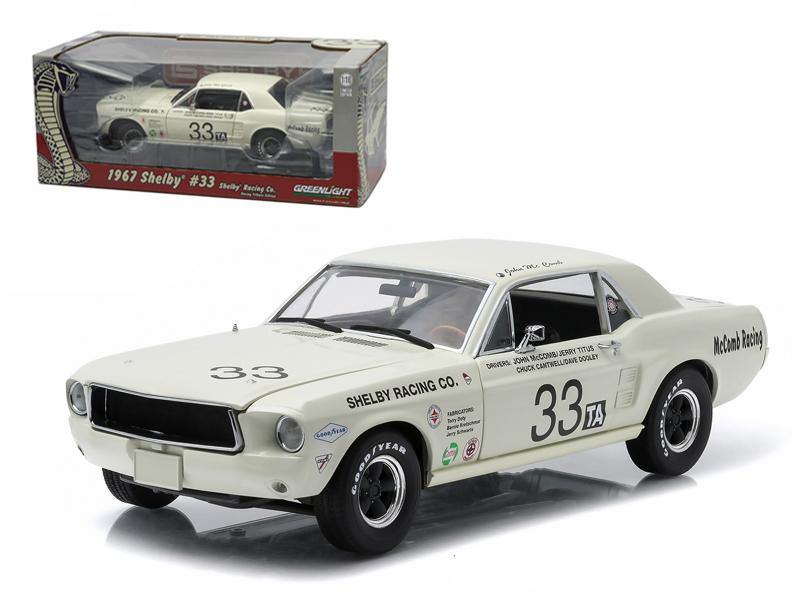 1967 Ford Shelby Mustang #33 Shelby Racing Co. Jerry Titus & John McComb Racing Tribute Edition 1/18 Diecast Model Car by Greenlight