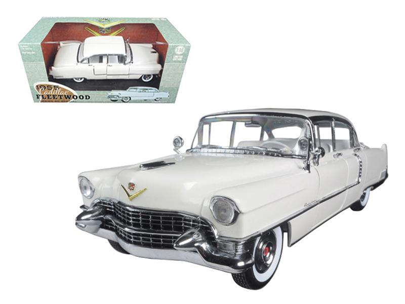 1955 Cadillac Fleetwood Series 60 White 1/18 Diecast Model Car by Greenlight