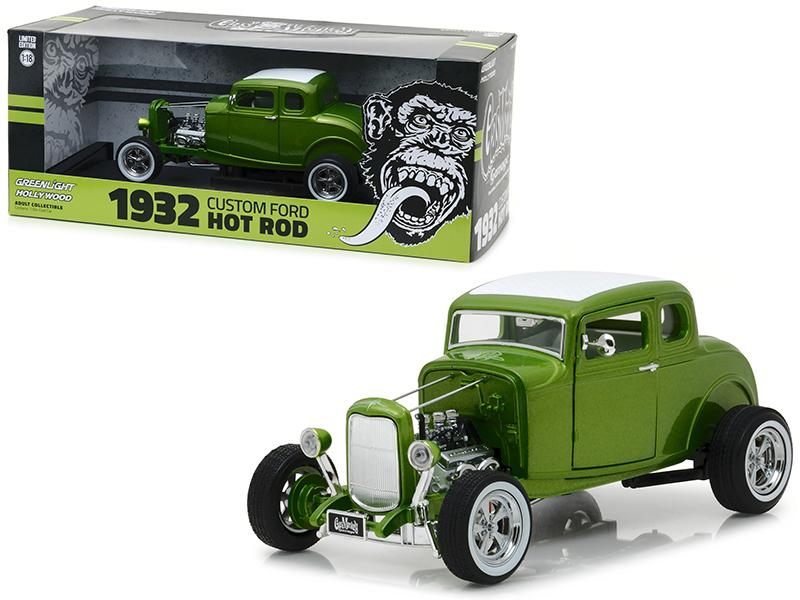"1932 Ford Custom Hot Rod Green \Gas Monkey Garage"" 2012 TV Series 1/18 Diecast Car Model by Greenlight"""