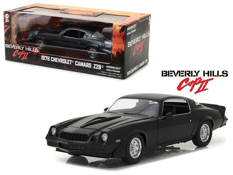 "1978 Chevrolet Camaro Z/28 Black From \Beverly Hills Cop 2"" Movie 1/18 Diecast Model Car  by Greenlight"""