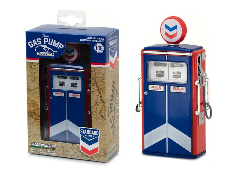 1954 Tokheim 350 Twin Gas Pump Standard Oil Replica Vintage Gas Pump Series 1 1/18 Diecast Model  by Greenlight