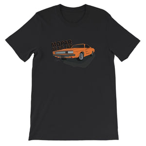 '68 Charger Orange Front Print Short Sleeve T-shirt