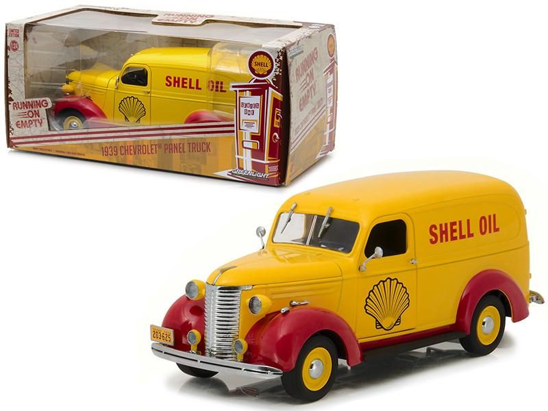 "1939 Chevrolet Panel Truck Shell Oil \Running on Empty"" Series 1/24 Diecast Model Car by Greenlight"""