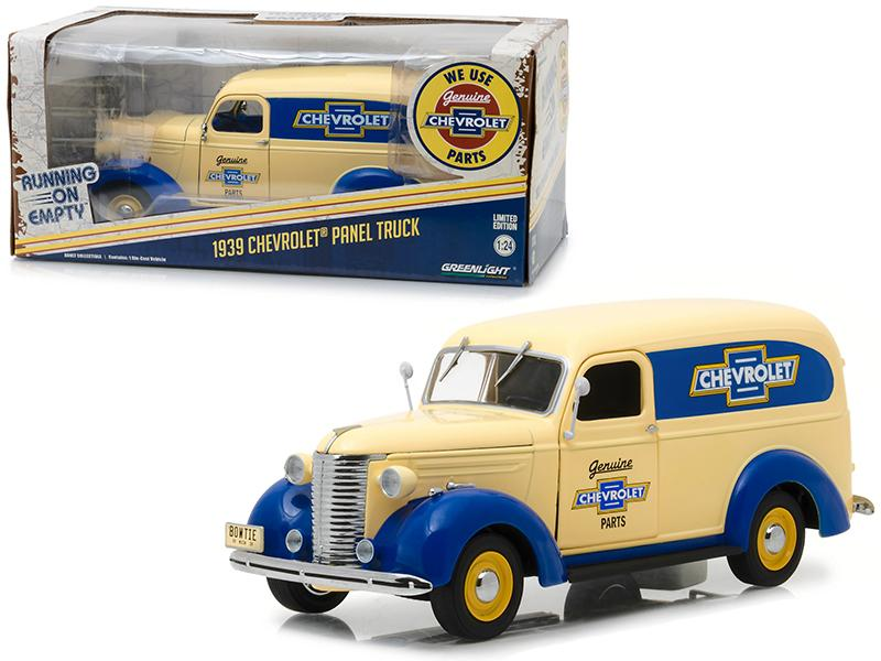 "1939 Chevrolet Panel Truck \Genuine Chevrolet Parts"" Running on Empty Series 1/24 Diecast Model Car by Greenlight"""