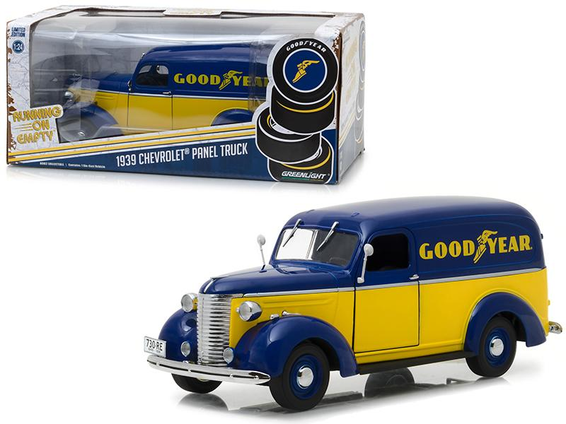 "1939 Chevrolet Panel Truck \Goodyear Tires"" Running on Empty Series 1/24 Diecast Model Car by Greenlight"""