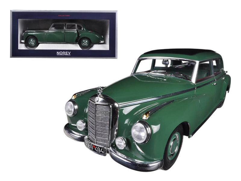 1955 Mercedes 300 Green 1/18 Diecast Car Model by Norev