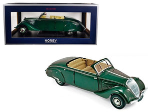 1937 Peugeot 402 Eclipse Dark Green 1/18 Diecast Model Car by Norev