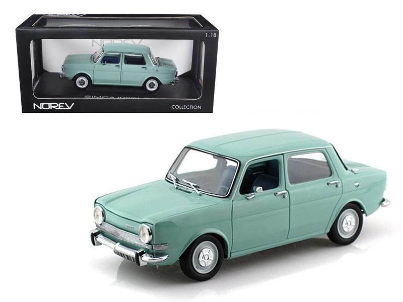 1974 Simca 1000 LS Arctic Blue 1/18 Diecast Car Model by Norev