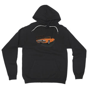 '68 Charger Orange Front Print Fleece Pullover Hoodie