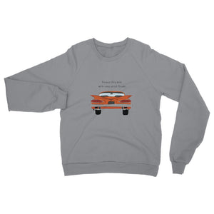 Orange Impala Slogan Front Womens Sweatshirt