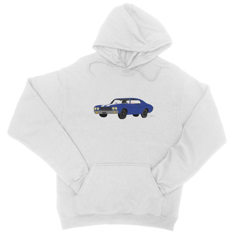 '70 Chevelle Blue No Slogan College Hoodie