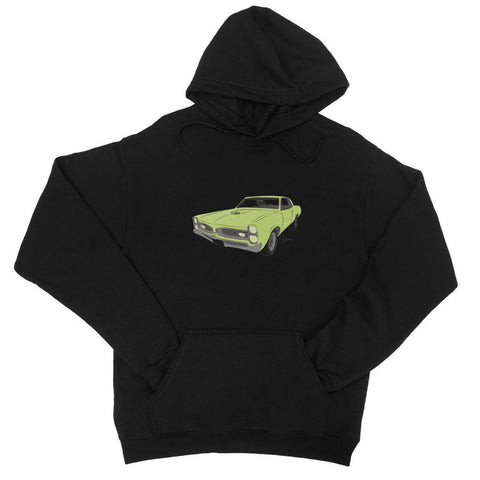 '66 GTO Green No Slogan College Hoodie