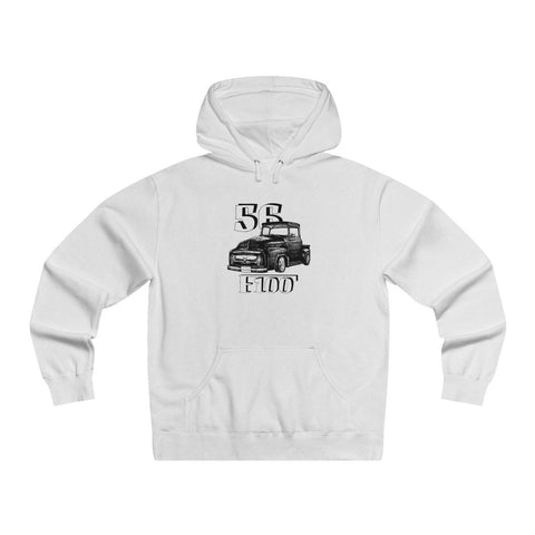 Image of '56 Ford F100 Men's Lightweight Pullover Hooded Sweatshirt