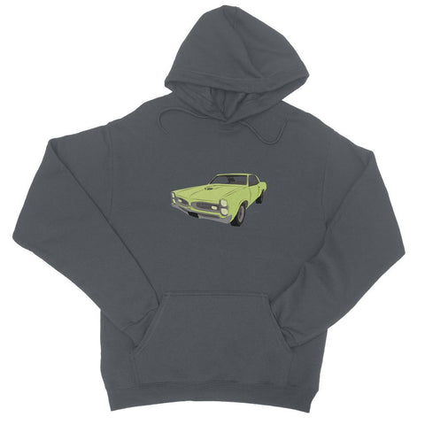 Image of '66 GTO Green No Slogan College Hoodie