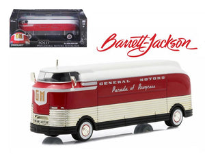 "1950 General Motors Futurliner \Parade of Progress"" #11 March of Tools 2015 Barrett Jackson Edition Hobby Exclusive 1/64 Diecast Model by Greenlight"""