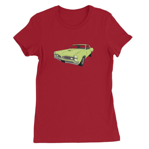 '66 GTO Green No Slogan Womens Favorite T-Shirt
