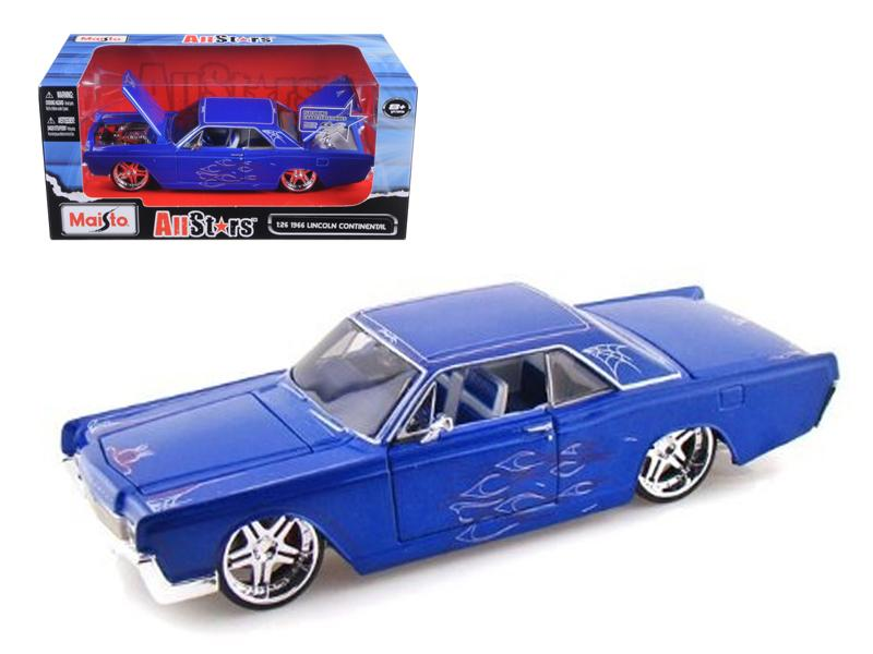 "1966 Lincoln Continental Blue \Pro Rodz"" 1/26 Diecast Model Car by Maisto"""