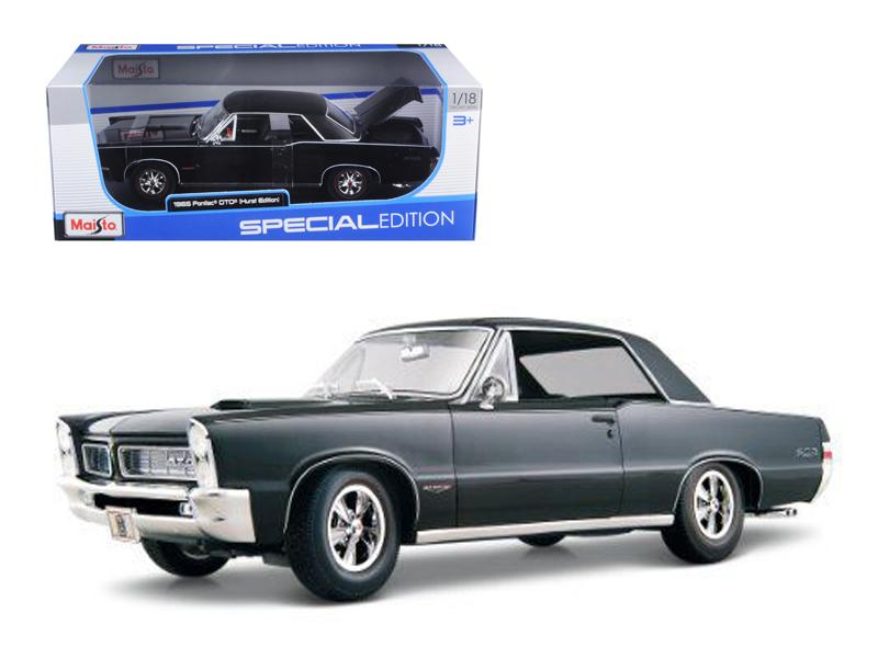 1965 Pontiac GTO Hurst Black 1/18 Diecast Model Car by Maisto