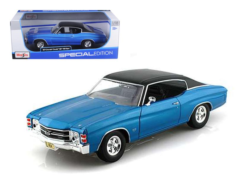 1971 Chevrolet Chevelle SS 454 Blue 1/18 Diecast Model Car by Maisto