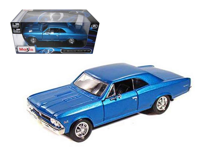 1966 Chevrolet Chevelle SS 396 Blue 1/24 Diecast Model Car by Maisto