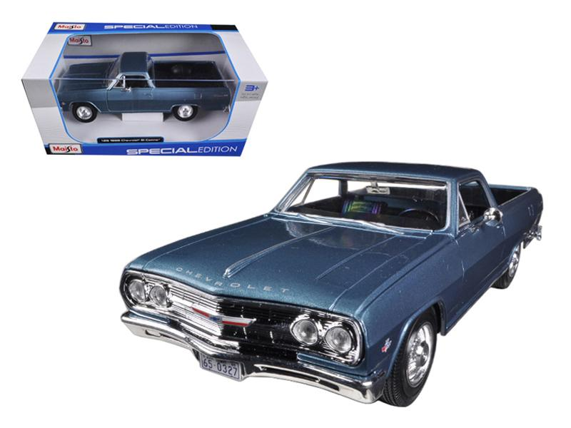 1965 Chevrolet El Camino Blue 1/25 Diecast Car Model by Maisto