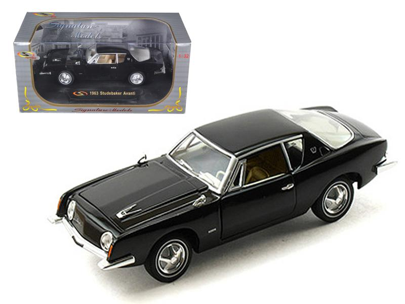 1963 Studebaker Avanti Black 1/32 Diecast Car Model by Signature Models