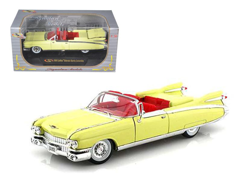 1959 Cadillac Eldorado Biarritz Yellow 1/32 Diecast Car Model by Signature Models