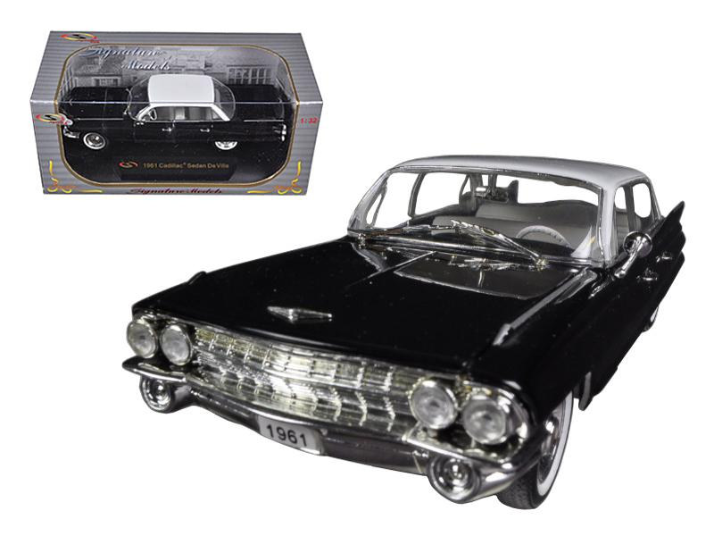 1961 Cadillac Sedan De Ville Eldorado Black 1/32 Diecast Car Model by Signature Models