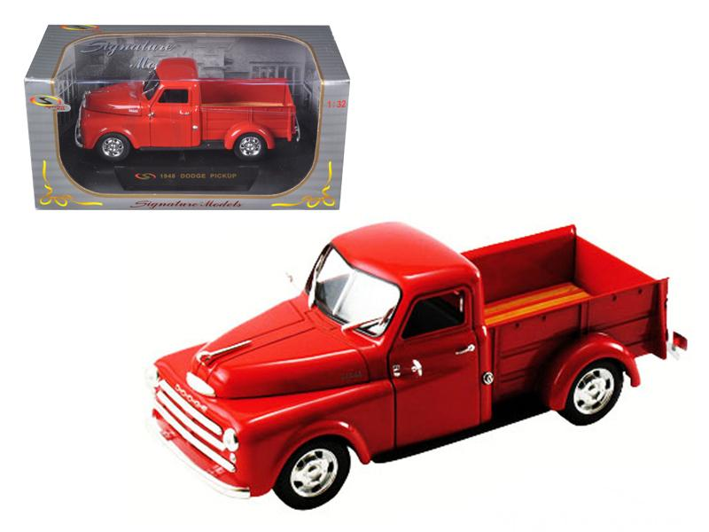 1948 Dodge Pickup Truck Red 1/32 Diecast Model Car by Signature Models