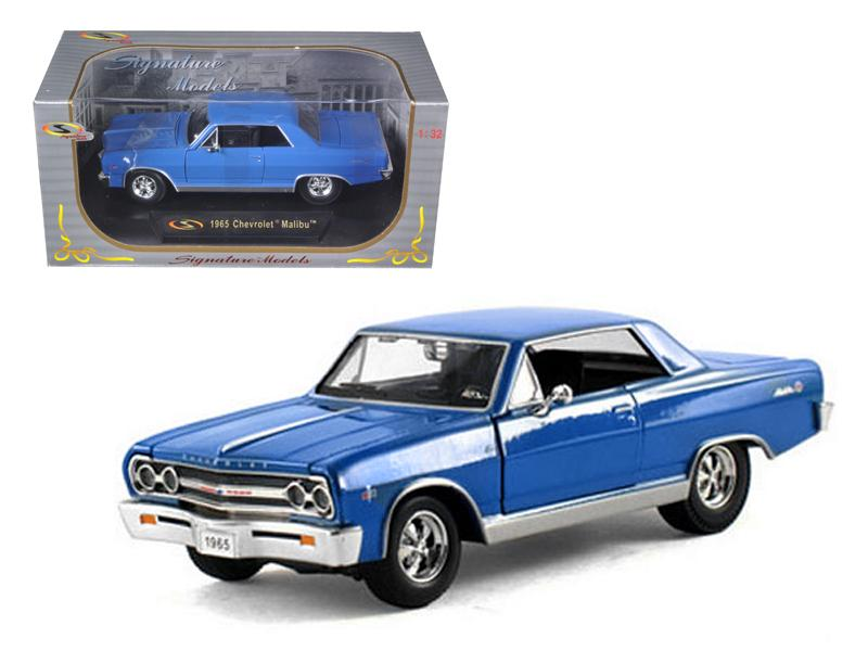1965 Chevrolet Malibu SS Blue 1/32 Diecast Model Car by Signature Models