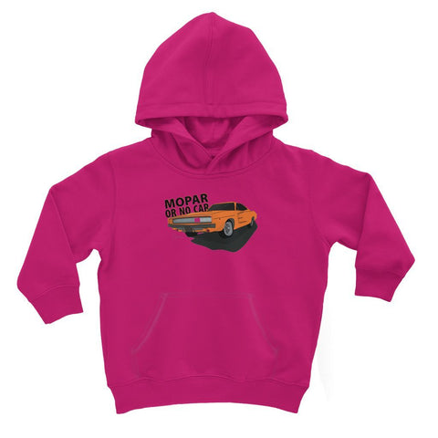 '68 Charger Orange Front Print Kids Hoodie
