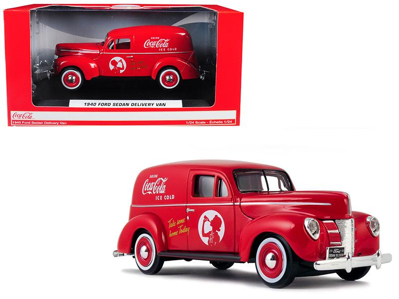 "1940 Ford Sedan Delivery Van \Coca-Cola"" Red 1/24 Diecast Model Car by Motorcity Classics"""