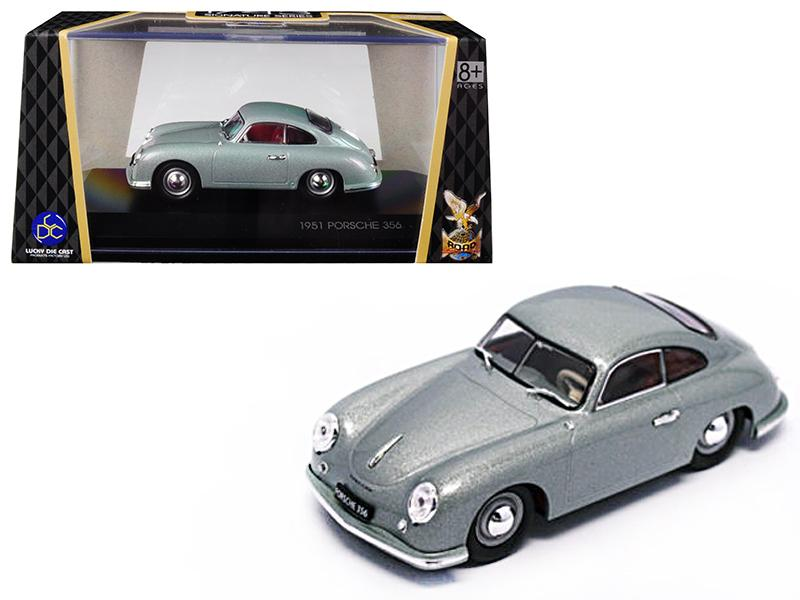 1951 Porsche 356 Coupe Silver 1/43 Diecast Model Car by Road Signature