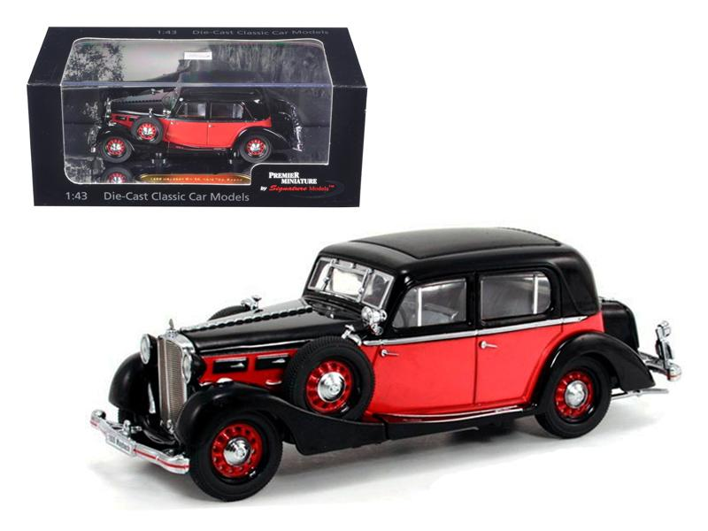 1935 Maybach SW35 Spohn Black/Red Hardtop 1/43 Diecast Car Model by Signature Models