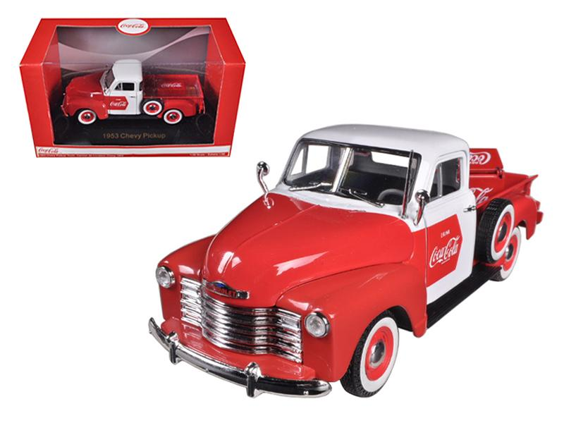 1953 Chevrolet Pickup Truck Coca Cola with Cooler 1/32 Diecast Car Model by Motorcity Classics