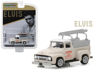 1954 Ford F-100 Pickup Truck Cream ���Crown Electric Company��� Elvis Presley (1935-1977) Hollywood Series 20 1/64 Diecast Model Car by Greenlight