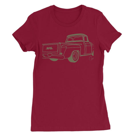 Image of Green GMC Truck Womens Favorite T-Shirt