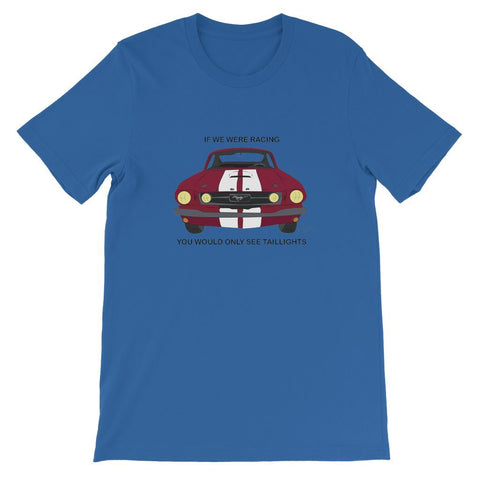 '66 Red Mustang Front Short Sleeve T-shirt
