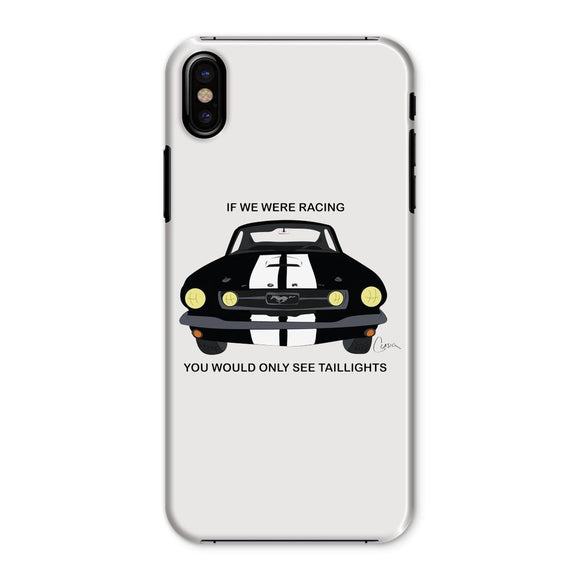 '66 Black Mustang Front Phone Case