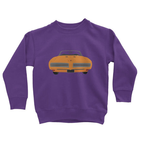 '68 GTO Orange No Slogan Kids Sweatshirt
