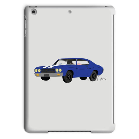 '70 Chevelle Blue No Slogan Tablet Case