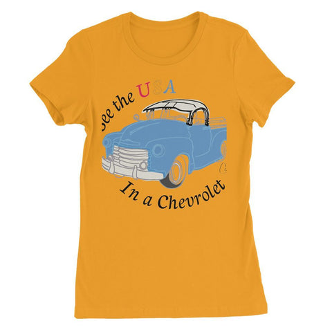 Image of See the USA in a Chevrolet Truck Womens Favorite T-Shirt