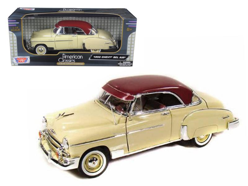 1950 Chevrolet Bel Air Cream 1/18 Diecast Model Car by Motormax