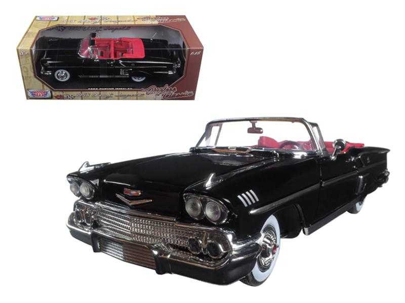 "1958 Chevrolet Impala Black \Timeless Classics"" 1/18 Diecast Model Car by Motormax """