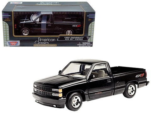 1992 Chevrolet SS 454 Pickup Truck Black 1/24 Diecast Model by Motormax