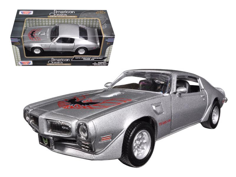 1973 Pontiac Firebird Trans Am Silver 1/24 Diecast Model Car by Motormax
